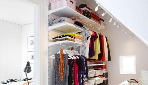 IKEA Begehbarer Kleiderschrank wie z. B. ALGOT Kombination in Weiß
