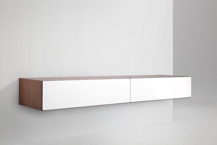 Blanco 200 design tv wandmeubel - hoogglans of mat wit - met gratis levering