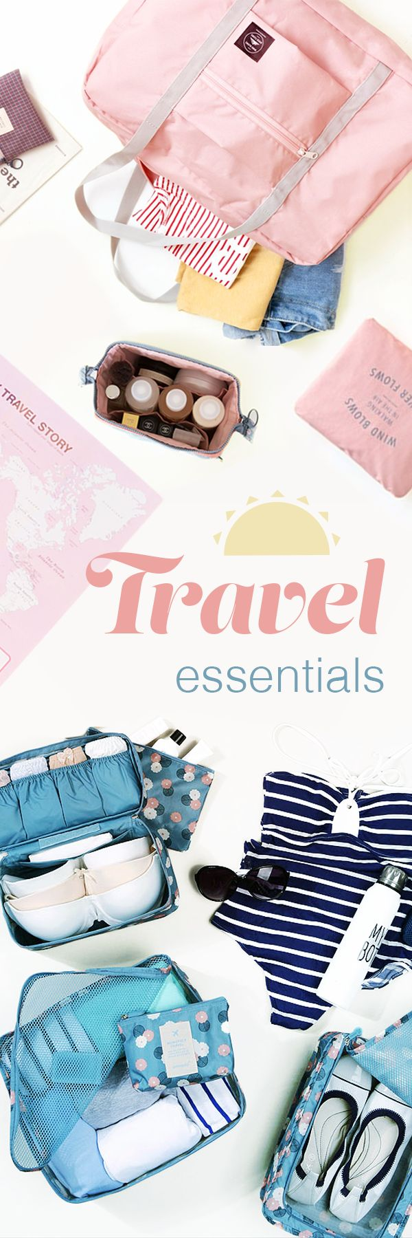Want to getaway? We can help you prepare & pack everything down pat! Having the right luggage can streamline the travel process & let you focus on the fun part of your vacation! Use cute Travel Pouches to organize your clothes, toiletries, & more so you can find them when you need them. You can zip through the airport with a stylish yet functional Passport Case & Luggage Tag. Then go & be an explorer with a light & chic Travel bag or Backpack! Shop for a peace of mind. Relaxation, here you…