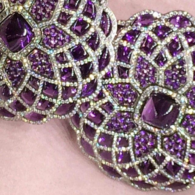 Beautiful Amethyst and diamond earrings, #harrods #glondon #finejewelry @glondon_jewels