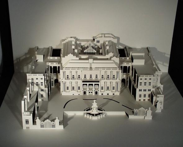 Very elaborate origamic architecture by Ingrid Siliakus.