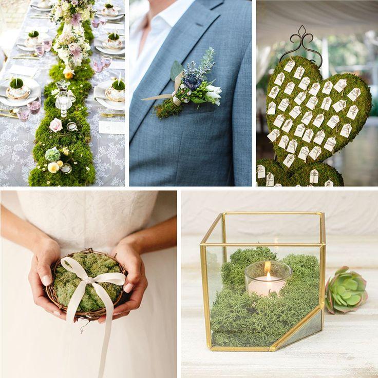 Weddings Factory - Blog ślubny, inspiracje, motywy przewodnie, stylizacje ślubne, organizacja wesela: Mech w ślubnej dekoracji