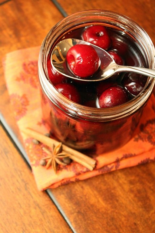 ... and desserts, made with spices, cherries, brandy, and cherry liqueur