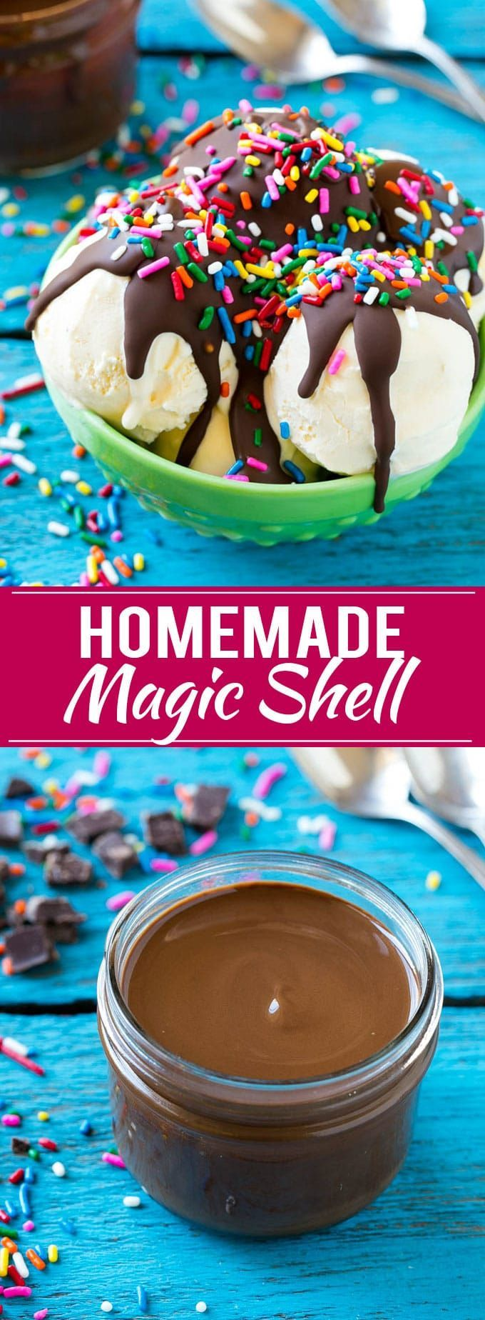 Homemade Magic Shell Recipe   Chocolate Ice Cream Topping   Chocolate Sauce   Hard Chocolate Coating