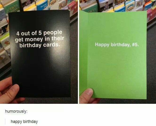 4 Out Of 5 People Get Money For Their Birthday, Happy