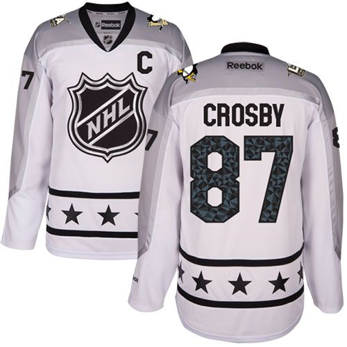 Men's Pittsburgh Penguins #87 Sidney Crosby White 2017 All-Star Metropolitan Division Stitched NHL Jersey