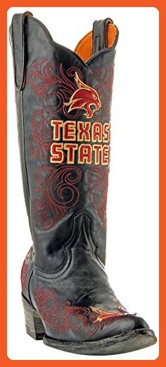 NCAA Texas State Bobcats Women's 13-Inch Gameday Boots, Brass, 8.5 B (M) US - Boots for women (*Amazon Partner-Link)