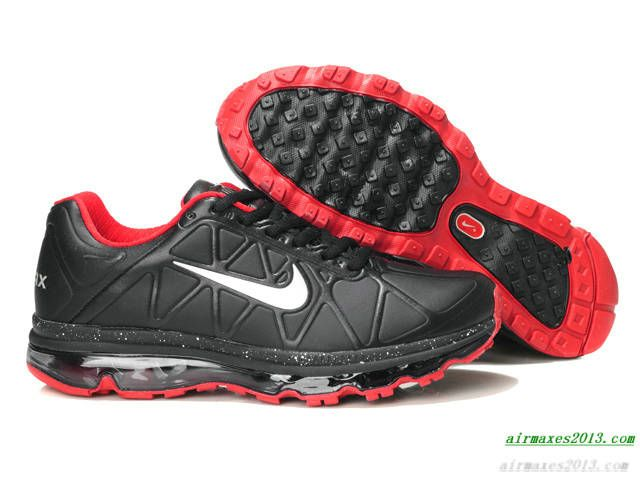 Nike Leather Air Maxes 2011 Black White Varsity Red 429889 016