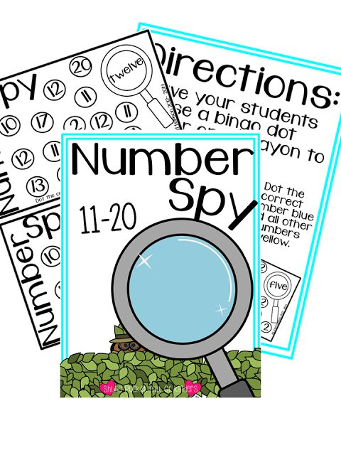 Pocket Full of Kinders!: Freebie to practice number word recognition. All you need is a bingo dabber and you are all set!