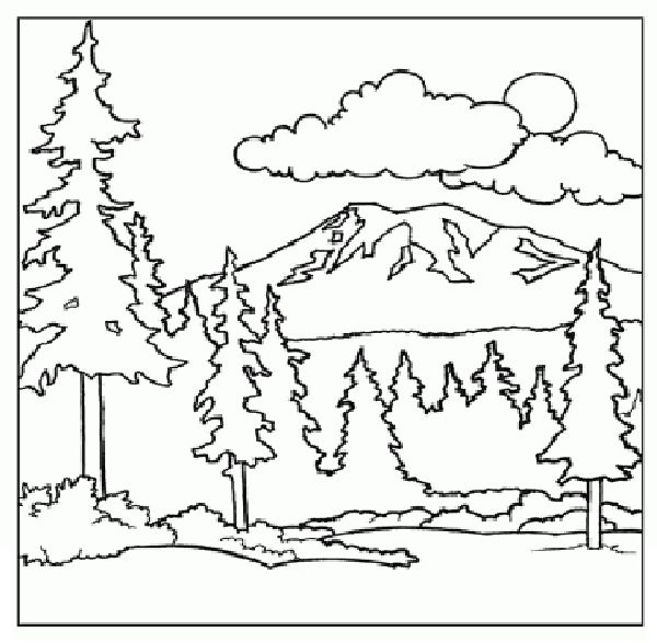 mountain coloring pages print - photo#5
