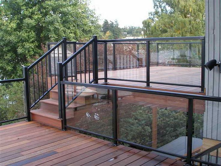 How to & Repairs:Glass Railing Systems For Decks Glass Railing Systems For Decks With Black Color