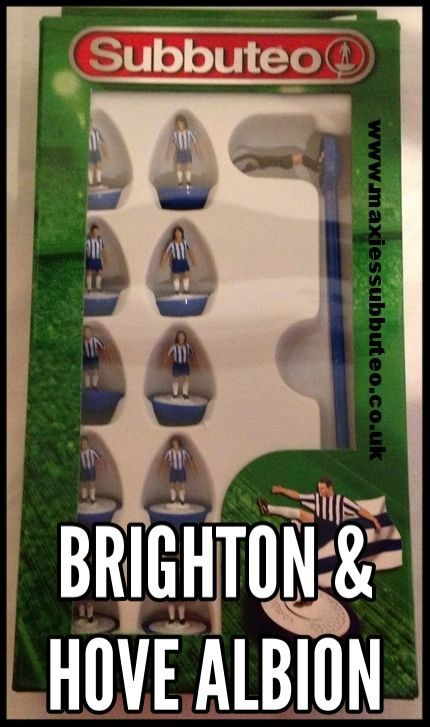 #subbuteo football team Paul Lammond Brighton & Hove Albion Modern teams released under licence from #Hasbro by Paul Lammond games for subbuteo. find more items for sale, blog, reviews check out my website www.maxiessubbuteo.co.uk