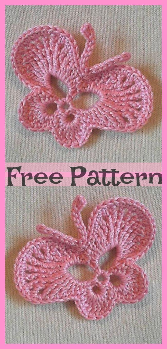 Pretty Crocheted Butterflies – Free Patterns