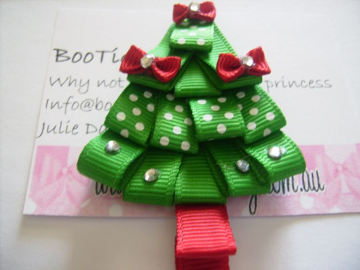 105 Best Bows Images On Pinterest Crowns Hairbows And Hair Clips - Christmas Tree Hair Bows