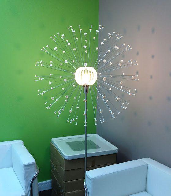 Ikea hackers ps maskros floor lamp home diy pinterest for Ikea lighting hack