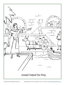 Sunday School Coloring Pages Joseph. Joseph Helped the King Coloring Page  Bible PagesActivity BooksBible ActivitiesNursery CraftsSunday School 8 best Pharaoh in Egypt Activities images on