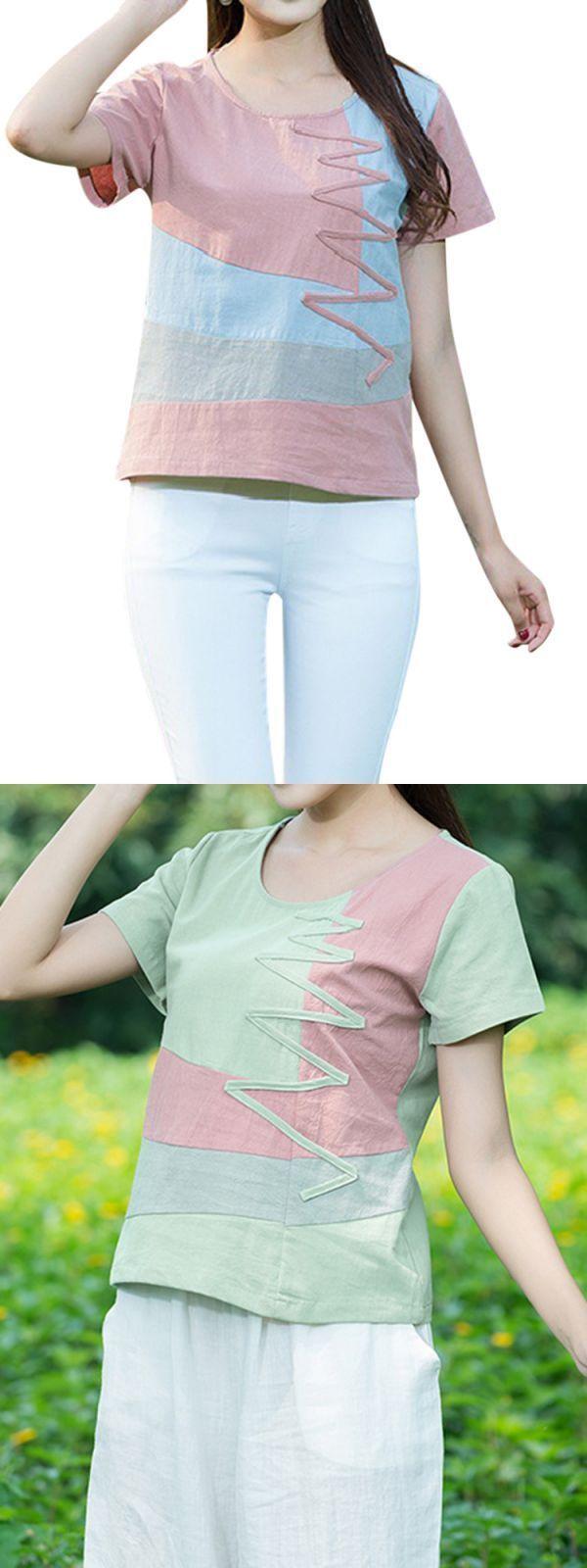 Casual women short sleeve patchwork o-neckline t-shirts superman t shirt girl india #gossip #girl #t #shirts #uk #quality #womens #t #shirts #t #shirt #clever #girl #woman #t #shirt #mockup