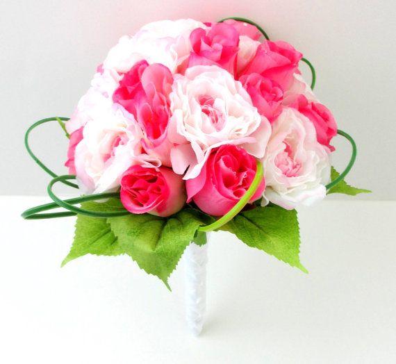 Bridal Bouquet  Silk Bouquet  Faux Bouquet  by WeddingsAndWreaths