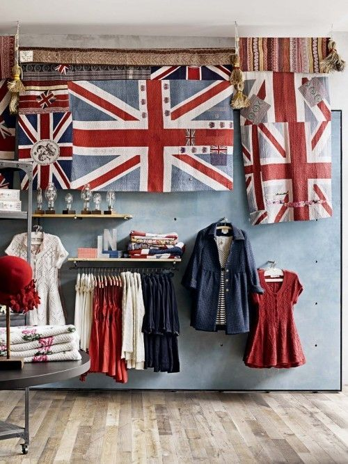 I am an Anglophile so this space speaks to me.  It's also how great it looks when you go with a display theme involving color. It looks rich and layered.
