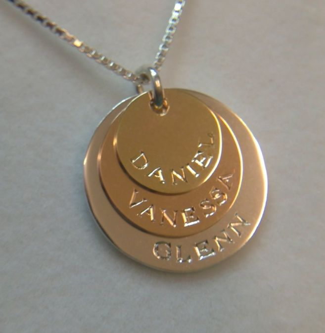 Family name personalised pendant