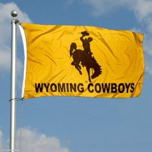 Wyoming Cowboys Double-Sided 3x5 Flag by College Flags and Banners Co.. Save 14 Off!. $49.95. 3-Ply Polyester Material with Sewn-In Liner between Sides. Identical Flag as flown over the College Football Hall of Fame. Double-Sided and Printed Logos are Readable Correctly on Both Sides. 3'x5' in Size with Sturdy Metal Grommets and Quad-Stitched Flyends. Officially Licensed by University of Wyoming. Our Wyoming Cowboys Double-Sided 3x5 Flag is made of three-ply polyester and includ...