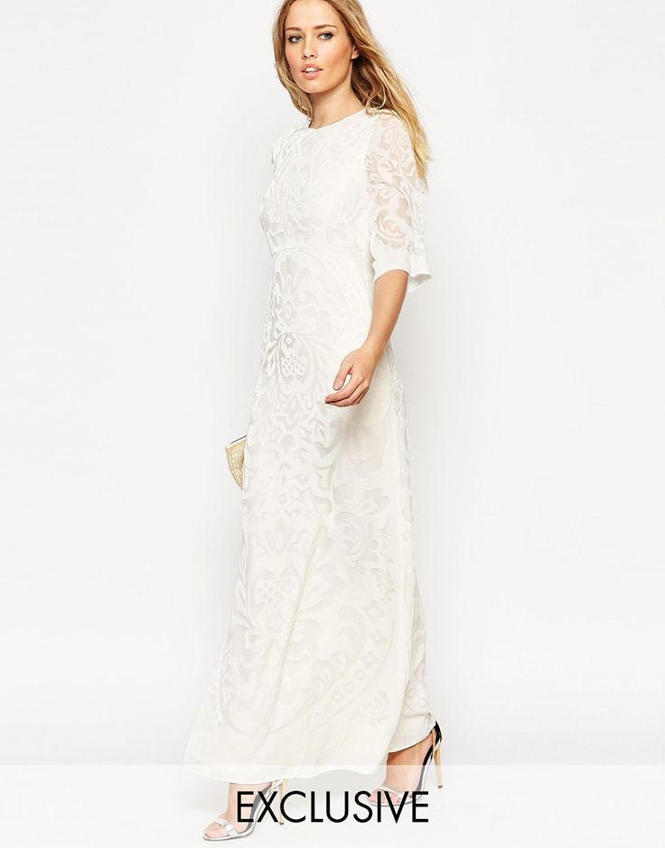 Needle Thread Fleur Devore Velvet Maxi Dress