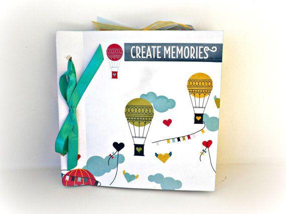 Scrapbook mini album Memories photo album Air by sweetpaperlife