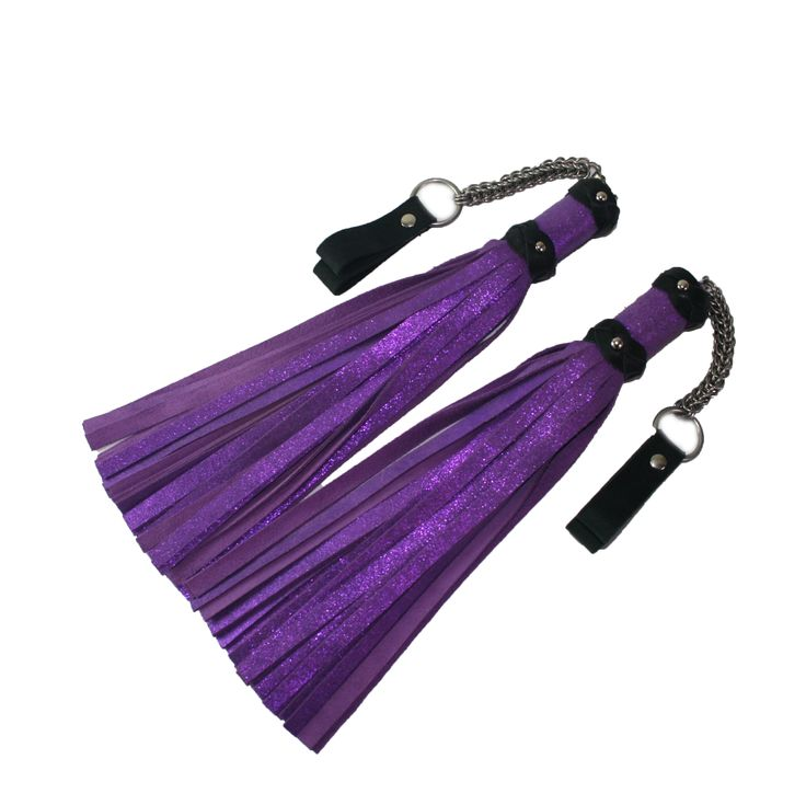 A beautiful set of  handmade leather poi floggers. I sell these and more bdsm toys at http://www.whipsbywolf.com/