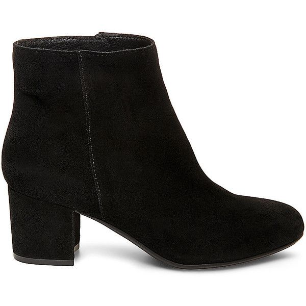 Steve Madden Women's Holster Booties found on Polyvore featuring shoes, boots, ankle booties, ankle boots, heels, black, black suede, black suede booties, black boots and steve madden booties
