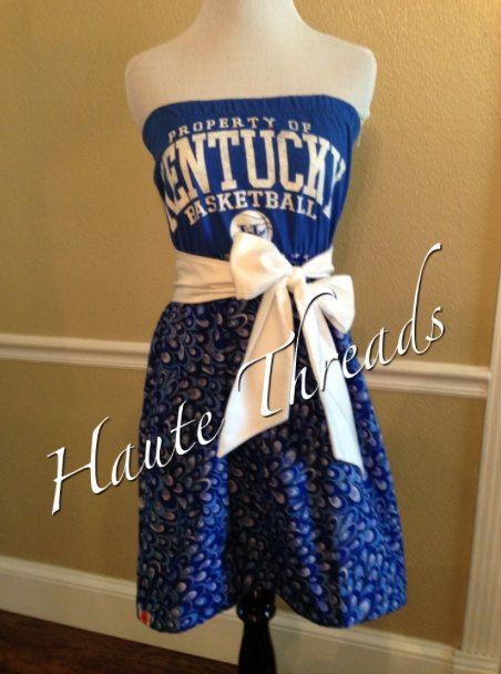 UK University of Kentucky WILDCATS Basketball Gameday Tube Strapless Football Dress with White Sash Bow - Medium on Etsy, $70.00