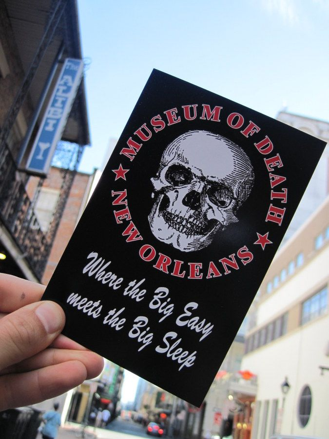 Justin Nobel visits the newly opened New Orleans Museum of Death. Travel with him as he views the museum's macabre collection of artifacts.
