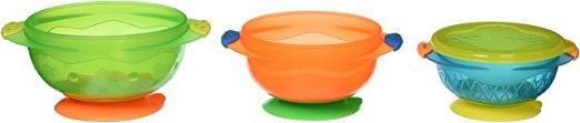Munchkin Stay Put Suction Bowl, 3 Count, Baby