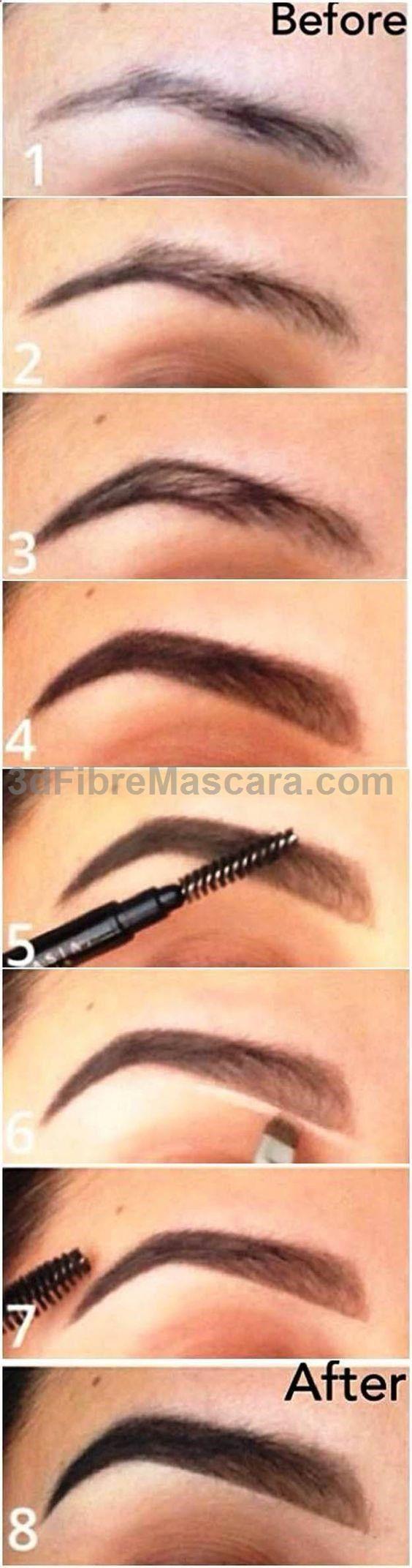 Eyebrow Makeup Tutorials for Beginners by Makeup Tutorials at makeuptutorials.c...: