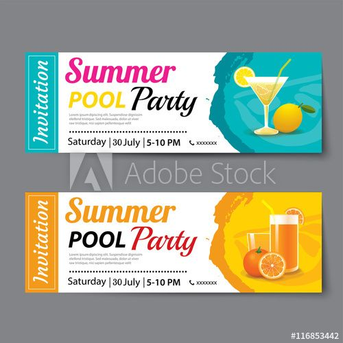 50 best Invitations images on Pinterest Cards, Colors and Drawing - party tickets templates