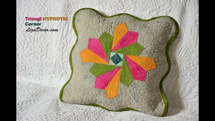 Patchwork Triangl Hypnotic, Corner, Ripple - LizaDecor.com #patchwork #triangl #corner #ripple #video #tutorial #vzory #šablony #lizadecor