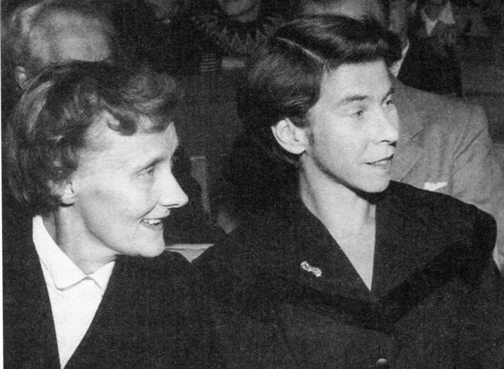 Astrid Lindgren and Tove Jansson in 1958