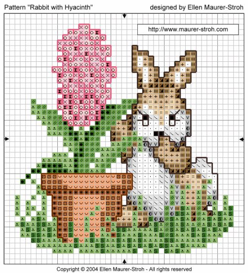 "Color Chart ""Rabbit with Hyacinth"""