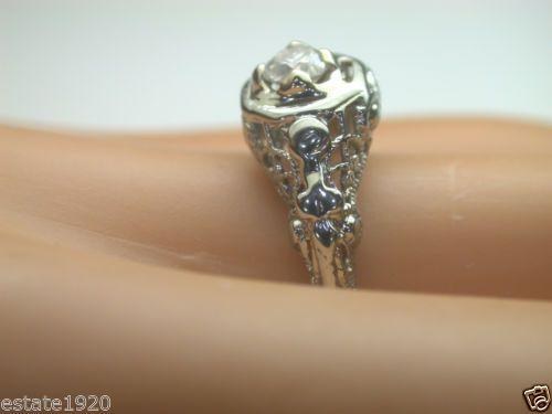 S Art Deco Diamond Ring