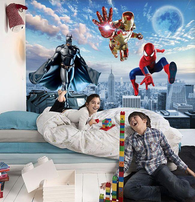 D coration murale chambre d 39 enfant papier peint tapisserie for Decoration murale papillon 3d