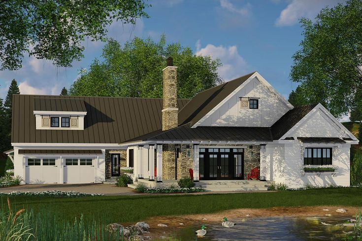 House Plan 098-00295 - Modern Farmhouse Plan: 2,241 Square Feet, 3 Bedrooms, 2.5 Bathrooms