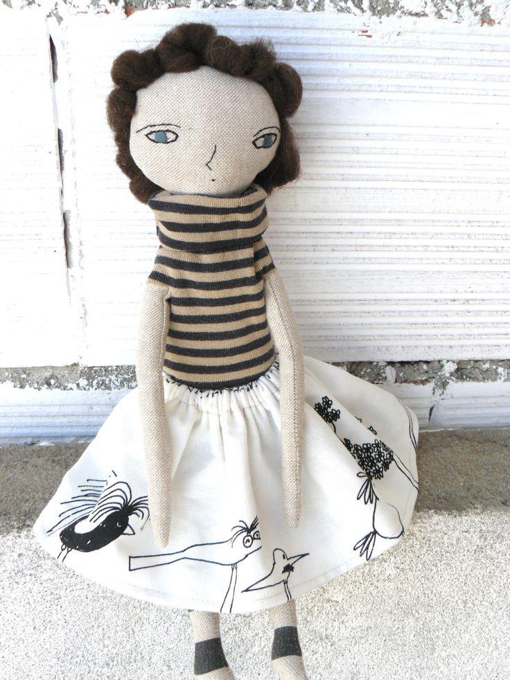 Muñeca con pelo de ana cosido a mano. 32 cm de AntonAntonThings en Etsy