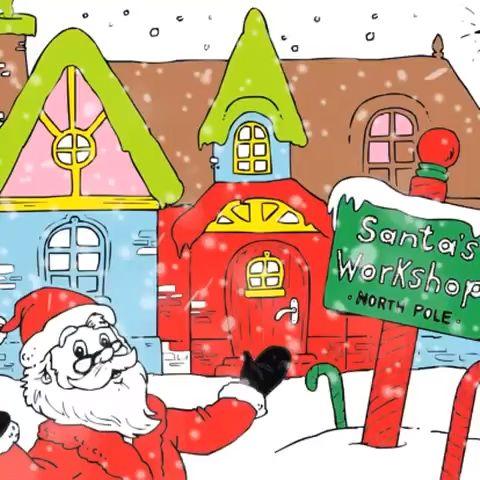 free santa's workshop coloring pages video  santa coloring pages coloring pages santas workshop