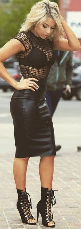 #summer #latest #trends |  All Black Party Outfit