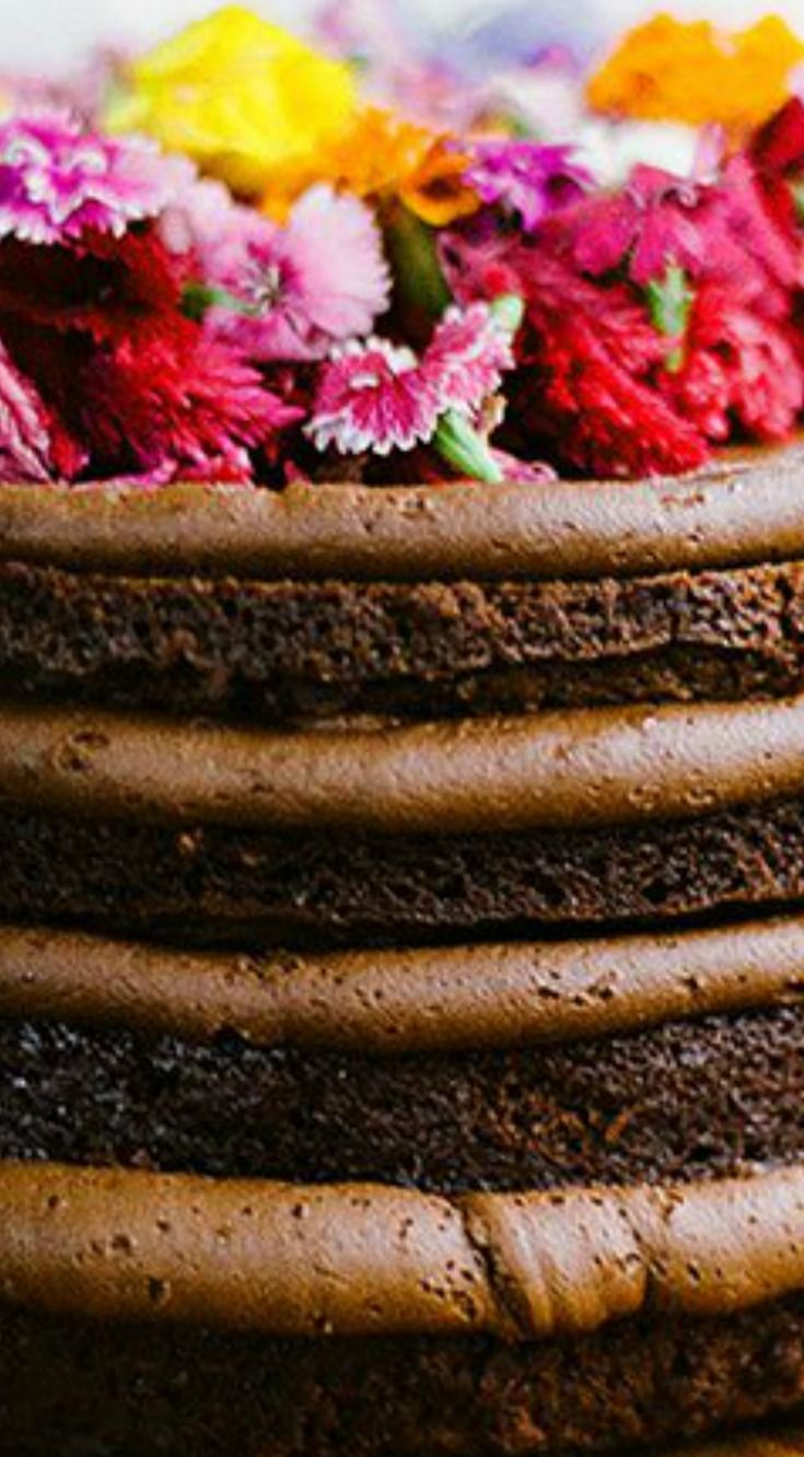 17 Best Ideas About Chocolate Cake Decorated On Pinterest