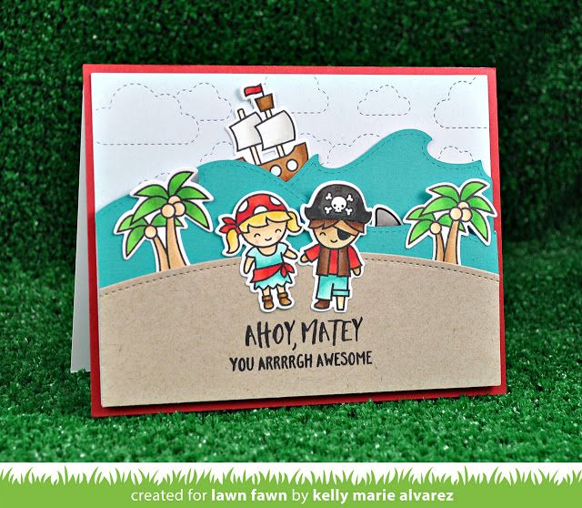 the Lawn Fawn blog: Lawn Fawn Intro: Ahoy, Matey, Lift the Flap, Simple Gift Card Slots