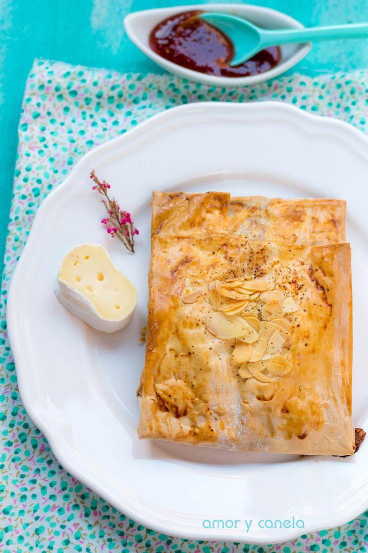 Sueños de amor y canela: Pañuelos de pasta filo con jamón y queso