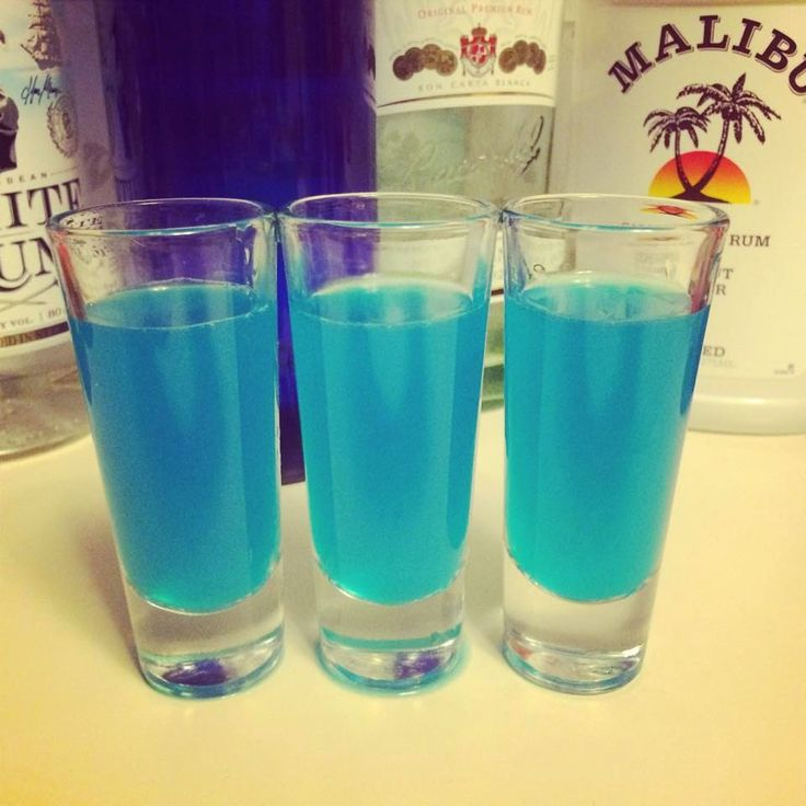 Blue Kamikaze Shots -  1 ounce blue curacao 1 ounce vodka 1 ounce lime juice