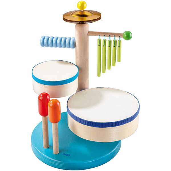 Divertido set de percusión el cual contiene bateria, xilófono, platillos y tambor para que los más pequeños comiencen ha aprender y divertirse con la #música. #juegos #educación