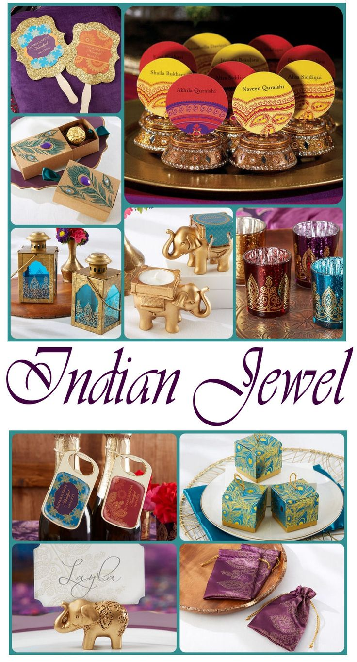 Our Indian Jewel collection has some of the prettiest Indian wedding favors!