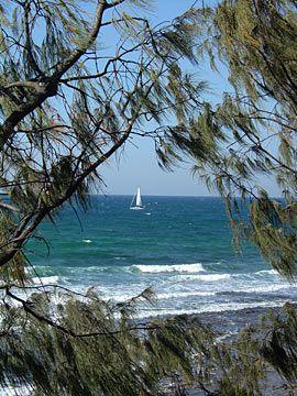 Sailboat, Alexanda Headland, Sunshine Coast, Queensland, Australia